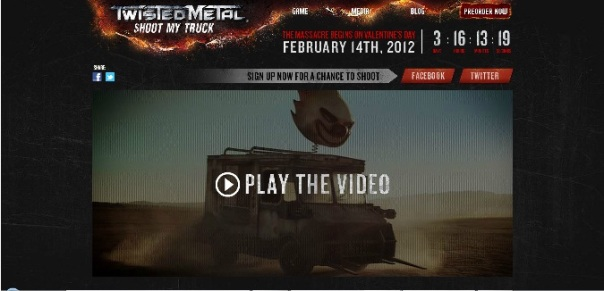 Shoot my truck - marketing twisted metal